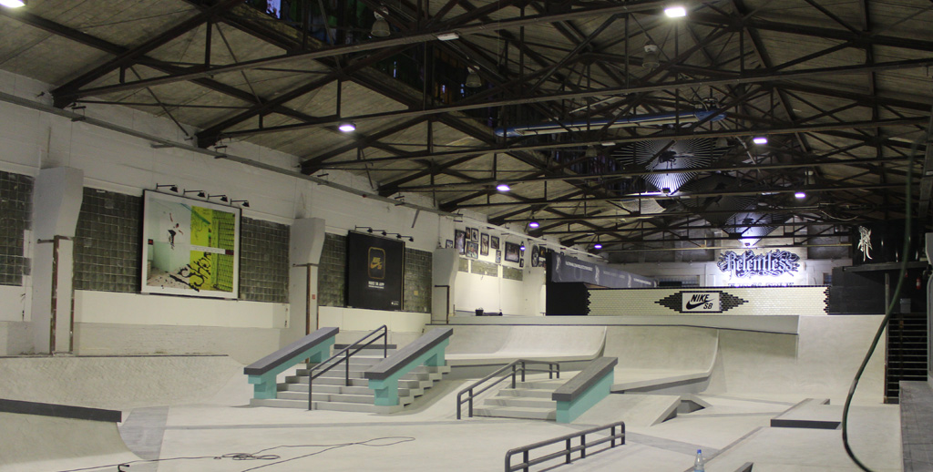 Skatehall Berlin placement of brands
