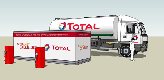 Branding TOTAL gas station
