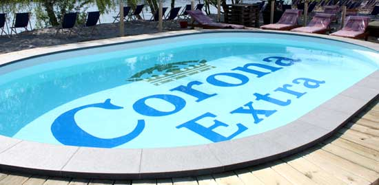 Pool branding Corona Extra